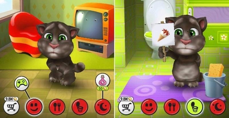 Скачать игру говорящий кот том на русском